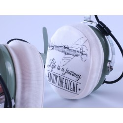 Aviation headset earcups...